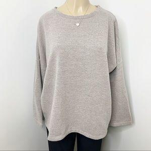ZARA Grey Oversized Comfy Sweatshirt Size Medium